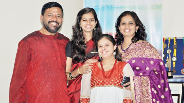 Gauri Gadgil with family