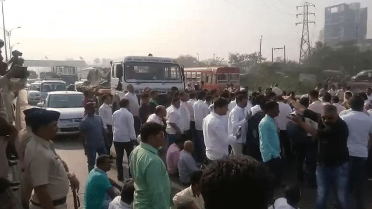 Agitation for Highwy , Navi Mumbai, Kamothe, Sion Panvel Highway