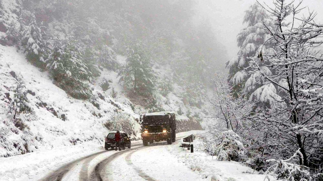 Snow Fall, Kashmir,