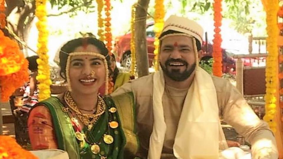 MARATHI ACTORS WEDDING, SAKHI SUVRAT