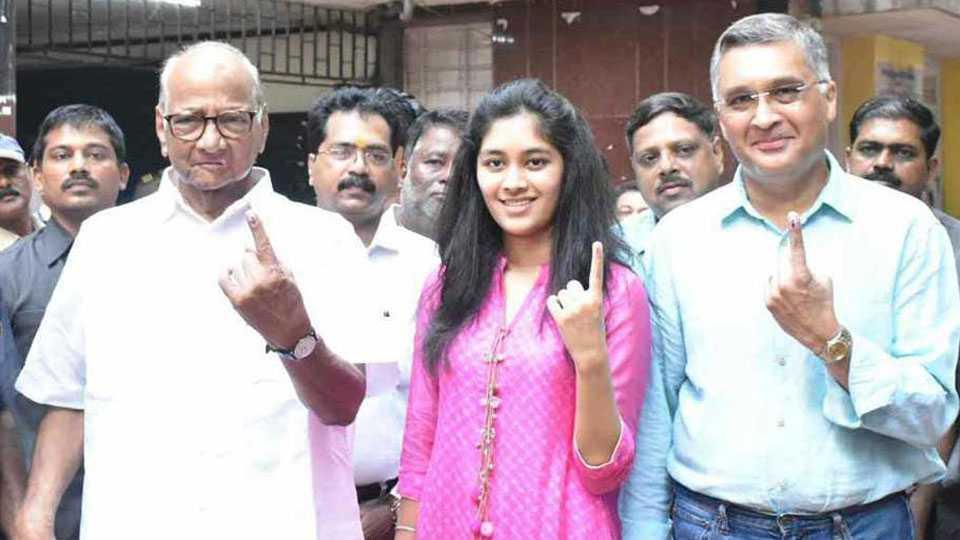 SHARAD PAWAR VOTE, NCP, MUMBAI