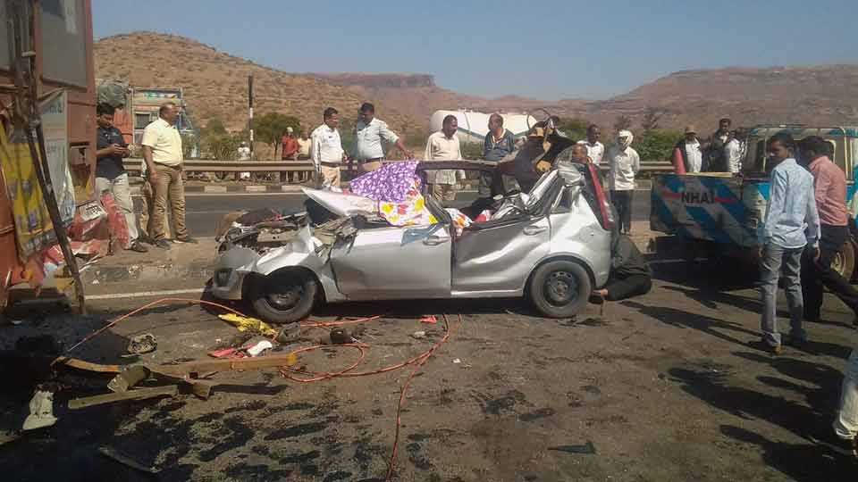 accident, wani accident, nasik