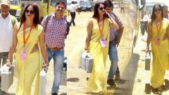 Yellow Sari WOmen , Loksabha Election
