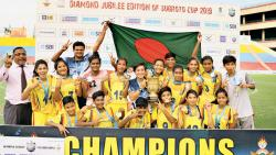 BKSP defeat Nilmani English School 4-0 to win Under-17 Girls Subroto Cup title
