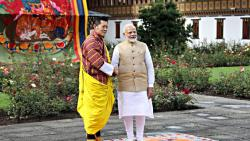 Prime Minister Narendra Modi meets the King of Bhutan Jigme Khesar Wangchuck in Bhutan