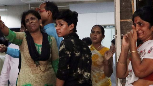 Victims' relatives at KEM hospital after stampede at Elphinstone railway station's foot over bridge, Mumbai (Pics prahant sawant)