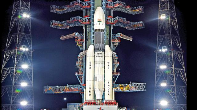 GSLV rocket carrying India's moon mission Chandrayaan-2 lifts