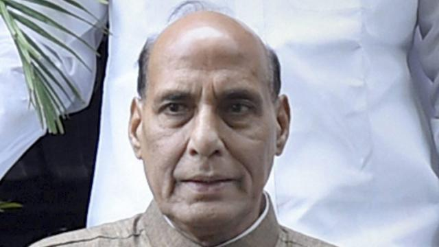 Rajnath hopes Eid will help in bringing peace in Kashmir