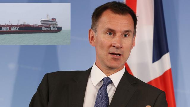 UK 'deeply concerned' over Iran's seizure of oil tanker