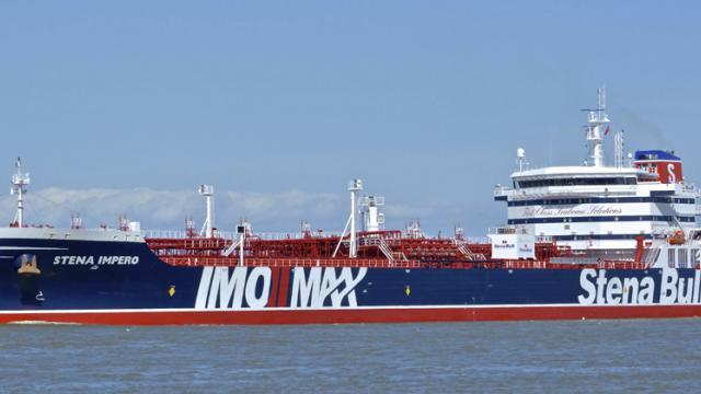 Crew of captured British oil tanker safe: