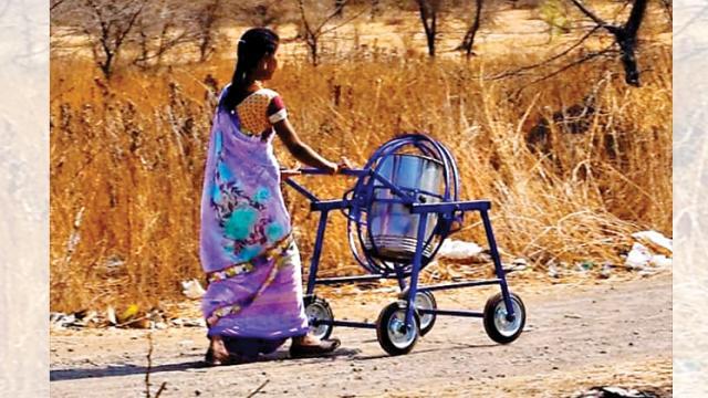 Neer Chakra helps rural women in fetching water