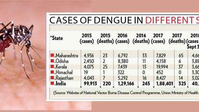 State tops in dengue cases in country