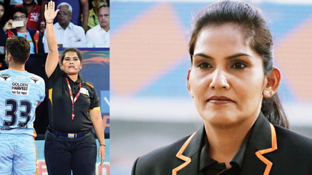 Sasmita and Jamuna drawing lines for future women referees