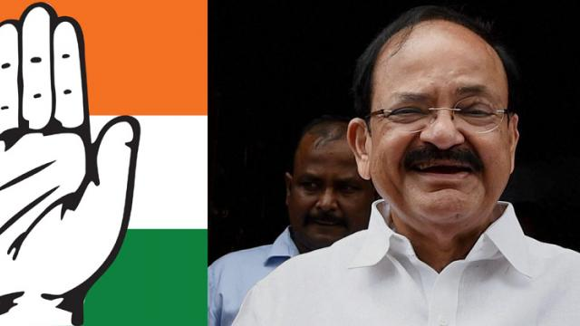 Congress targets NDA VP candidate Venkaiah Naidu