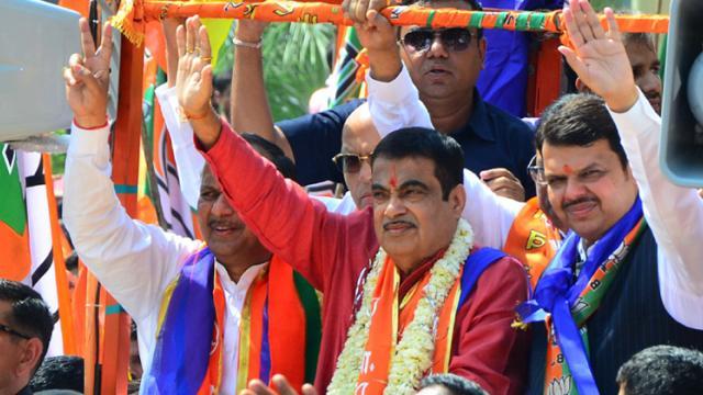 LokSabha 2019: Gadkari, Chavan, Ambedkar file nominations in Maha