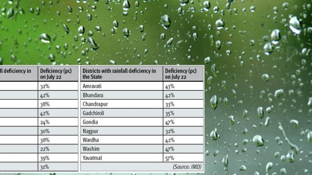 8 pc rainfall deficiency in Maharashtra: IMD