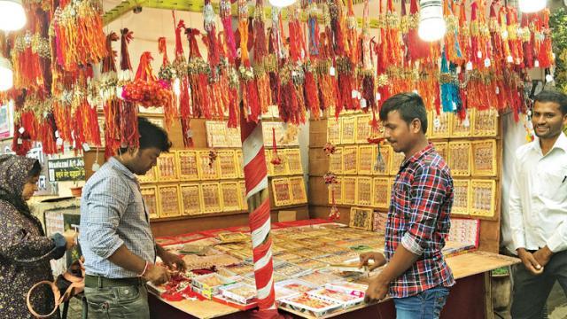 Despite GST exemption, rakhi wholesalers at Bhori Ali still face downfall in their business