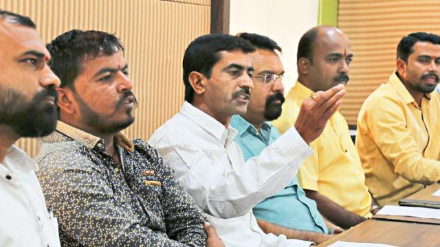 Members of various organisations address the media at  a press  conference on Saturday.