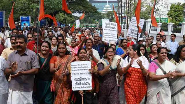 Widespread protests in Kerala over late night police crackdown in Sabarimala