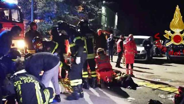 Six dead, dozens hurt in Italy nightclub stampede