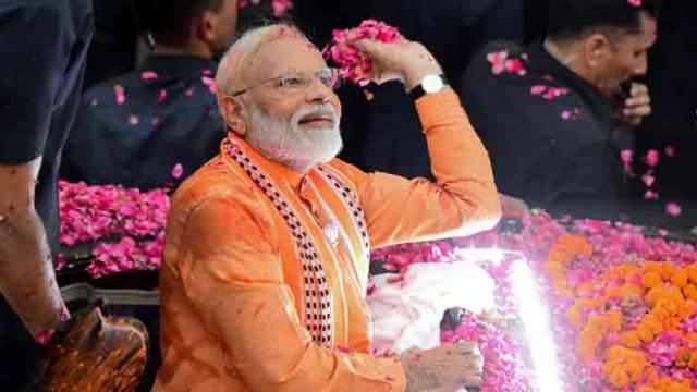 PM holds mega roadshow in Varanasi, witnesses Ganga aarti