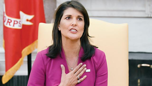 Haley exits Trump administration with her reputation enhanced