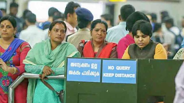 Unprecedented security in Sabarimala, Trupti Desai held up at Kochi airport due to protests