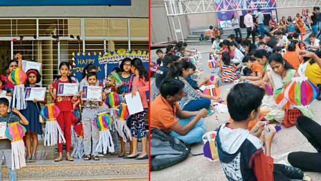 Sakal Young Buzz conducts lantern-making workshop