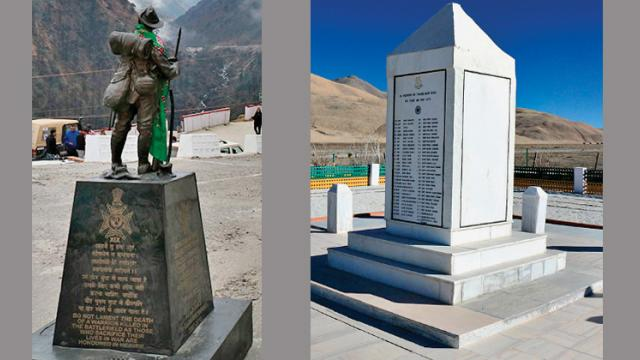 In memoriam of Indian soldiers courage