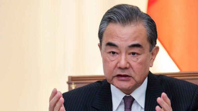 Chinese Foreign Minister Wang Yi in Sochi on May 13, 2019. AFP Photo