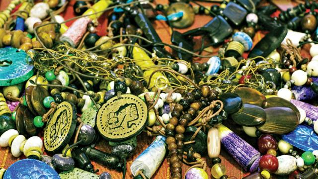 Beaded jewellery available in flea markets