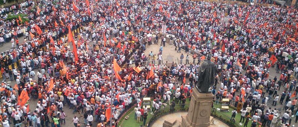 Maratha Kranti Morcha rally at BMC, Mumbai on Wednesday.