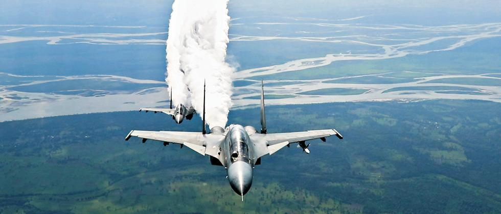 Locked and loaded, primed and strapped, the Sukhoi SU 30 MKI is a lethal weapons delivery platform