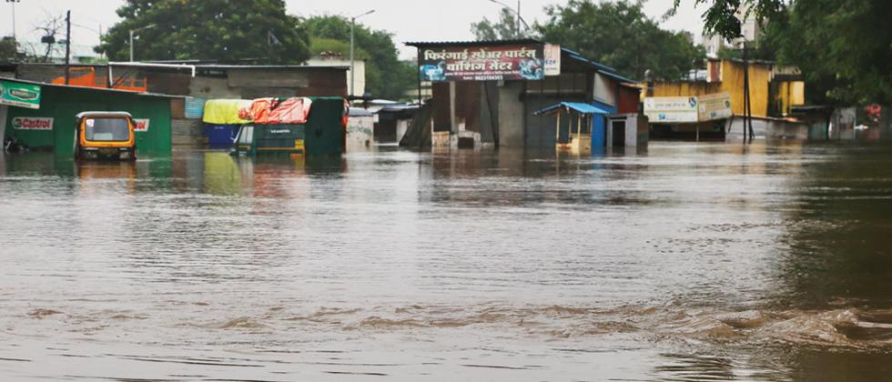 WOES: Houses in Bopodi were flooded with water. (Pic: Mukkund Bhute)