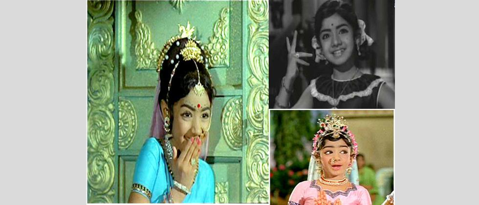 Sridevi first faced the cameras at the age of 4, acting in several Hindi, Kannada, Tamil, Telugu and Malayalam films. She won the Kerala State Film Award for Best Child Artist for her performance in Poombatta (1971).