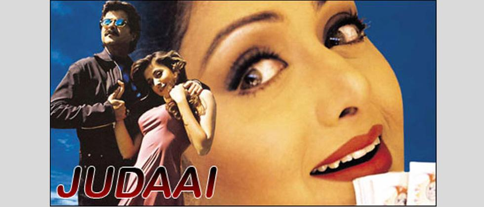 Judaai (1997) featuring Sridevi, Anil Kapoor and Urmila Matondkar was Sridevi's last movie as romantic lead. She would not return to the big screen for the next 15 years.
