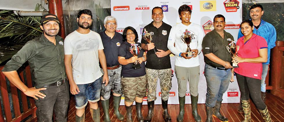Title winners of Lonavala Great Escape strike a happy pose with their trophies at 19 Degree North.