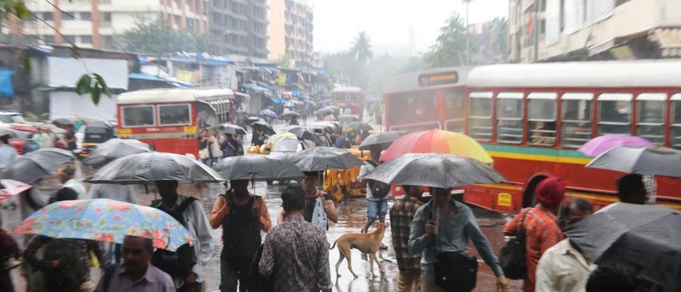 Heavy rains in Mumbai continue to paralyze the city.