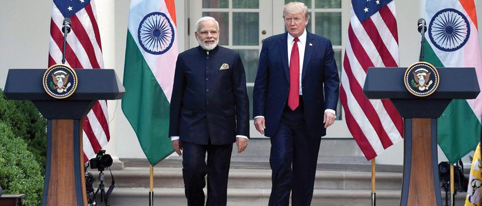 Prime Minister Narendra Modi meeting the President of United States of America, Donald Trump, at the Joint Press Statement, at White House, in Washington DC on Tuesday.