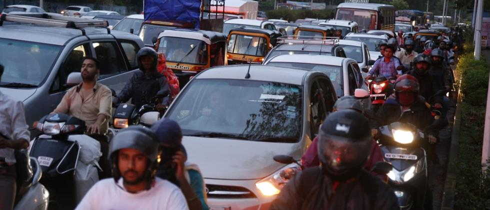 Showers in the city not only brought the much-needed relief from heat but also traffic chaos as the signal system in many parts of the city had stopped working.