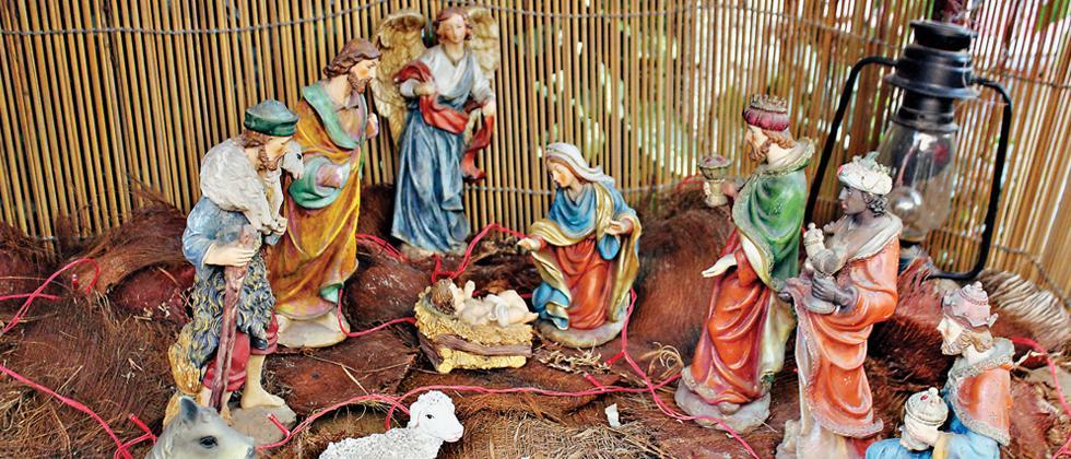 Ceramic sculptures around baby Jesus (Pic: Pradeep Chamaria)