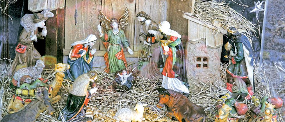 Beautiful sculptures themed around nativity at one of the churches in the city (File photo)