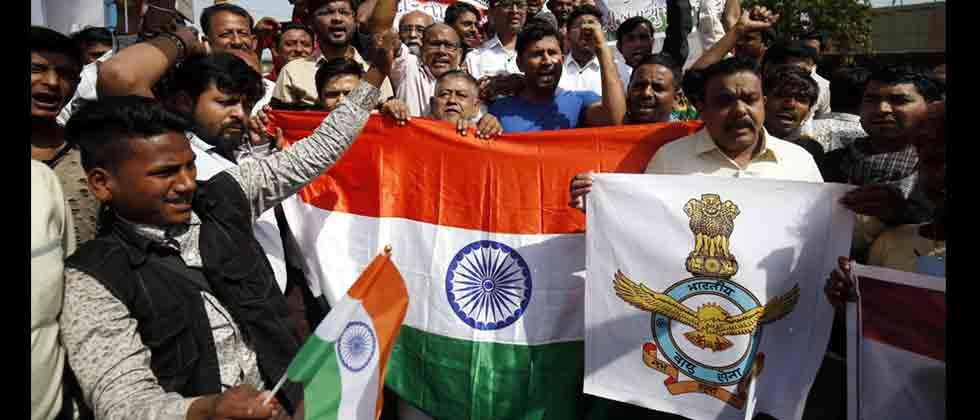 People come out on streets across country to celebrate IAF strike