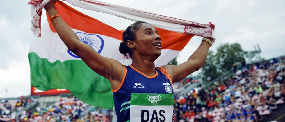 PM congratulates Hima Das on winning gold in athletic championship