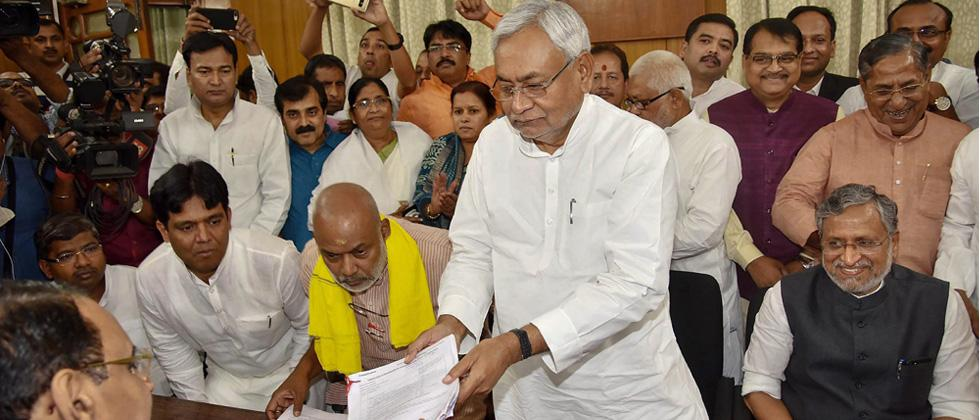 Nitish, Sushil file nomination for Bihar council polls