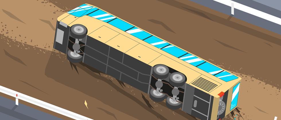 Shivshahi bus turns turtle near Mangaon, 31 injured