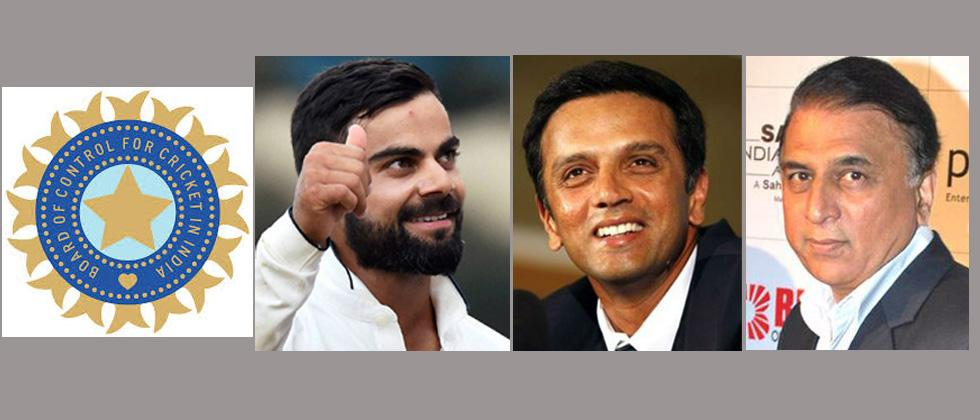 BCCI recommends Kohli for Khel Ratna, Dravid for Dronacharya, Gavaskar for Dhyan Chand