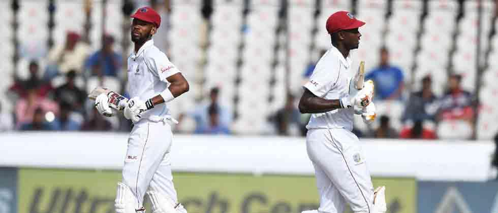 Roston Chase defies India as West Indies score 295/7