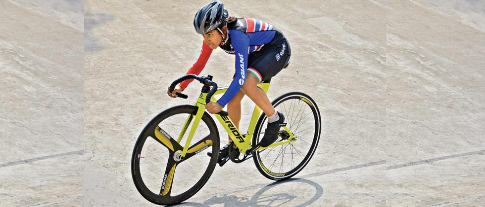 Siddhi wins 500m Time Trial gold