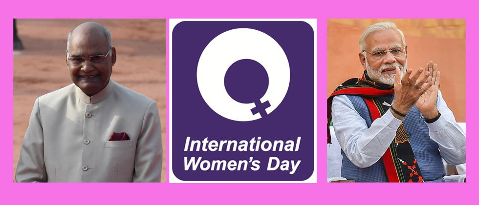 Kovind, Modi extend International Women's Day greetings